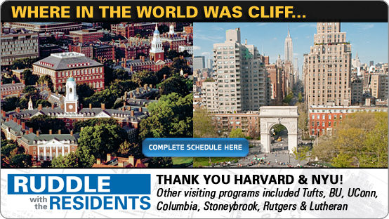 RUDDLE WITH THE RESIDENTS: Harvard & NYU Thank You